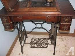 Antique Domestic Treadle Sewing Machine, complete