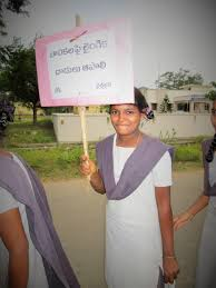 photo essay s national campaign to raise awareness of child saravakota street rally girls from the local government high school joined the childline rally and street walk children held placards promoting
