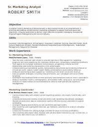 Marketing Analyst Resume Samples Qwikresume