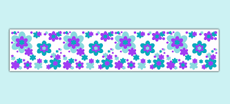 nursery decor teal purple fl print wallpaper border wall art