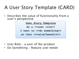 Agile Story Card Template Word As A User I Want User Story Template Magdalene Project Org