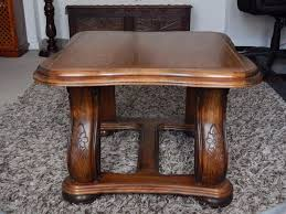 a pair of solid wood carved brussels lamp tables from scs in