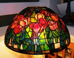 image of stained glass ceiling fan lamp shades