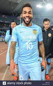 Brazilian football player Alex Teixeira of China's Jiangsu Suning F.C.  reacts after defeating Australia's Adelaide United FC in a Group H match  during Stock Photo - Alamy