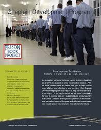 Prison Chaplain Job Chaplain Development Program Prison Book Project