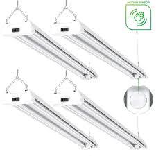 Sunco Lighting 4 Pack Led Utility Shop Light Motion Sensor