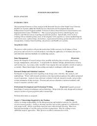 Pleasing Resume For Data Analyst Position About Data Analyst