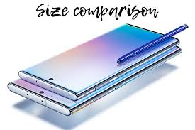 Iphone Actual Size Comparison Chart Galaxy Note 10 Note 10 Size Comparison Vs Galaxy S10