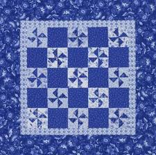 Quilting Color Trend: Blue | AllPeopleQuilt.com & Blue-and-White Pinwheels Adamdwight.com