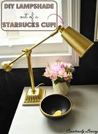 Diy Lampshade How To Make A Lamp Shadeout Of A Starbucks Cup Creatively