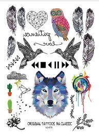Tetování Vlk Pírka
