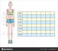 Blank Weight Chart Blank Weight Chart Measurement Chart Body Parameters Sport