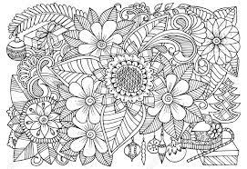色の黒と白の花柄のパターン大人の塗り絵のクリスマス イラスト