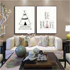 diy wall decor arrow haochu house fice bedroom diy painting e arrow black white