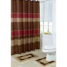 burgundy shower curtain sets. 15 piece bath set: 2 taupe brown burgundy bathroom mats, 1 matching shower curtain sets h