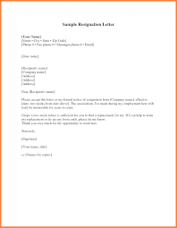 Type Of Resignation Letter New Letter Resignation Example Two Weeks ...