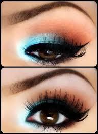 green eyes via green eye makeup