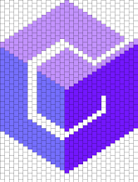 Nintendo Gamecube Logo Peyote Bead Pattern | Peyote Bead Patterns ...