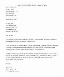 Sample Notice Letters Sample Resignation Letters Nursing Beautiful 2 Week Notice Letter