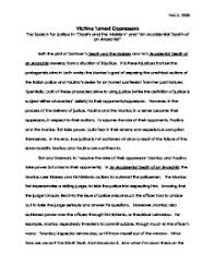world literature paper on death and the maiden and accidental  page 1 zoom in