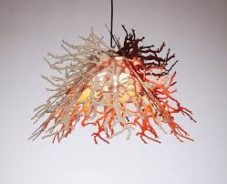 organic lighting fixtures. Pendant Lamp Shade In Shape Of Leaves Organic Lighting Fixtures L
