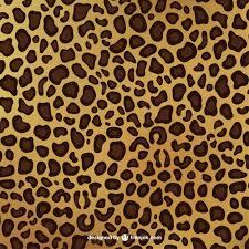 leopard print pattern free vector