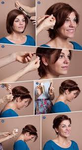 Schnelle Romantische Frisur F R Kurze Haare Haare Pinterest