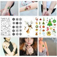 životní Móda Děti Dočasné Tetování Samolepky Roztomilý Akvarel Karikatura Vánoce Vodotěsné Tělo Umění