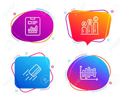 Report Document Credit Card And Graph Chart Icons Simple Set