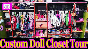 custom doll walk in closet room tour diy homemade plus easy barbie doll crafts you