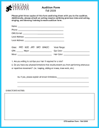 template comely sample audition resume example audition resume format templateaudition resume format audition resume format