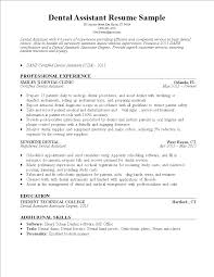 Free Dental Assistant Resume Sample Templates At