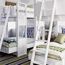 White Green Blue Bunk Room Bedroom