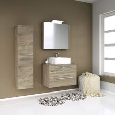 Badmöbel Set E Bidar 3 Teilig Inkl Waschbecken Farbe Eiche
