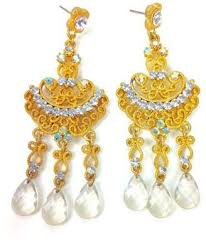 at tiques ghome2 crystal chandelier earrings