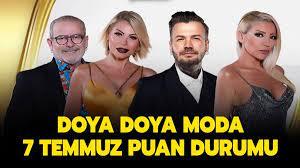 Doya Doya Moda 7 Temmuz puan durumu nasıl? Doya Doya Moda All Star'da kim  elendi, finale kimler kaldı?