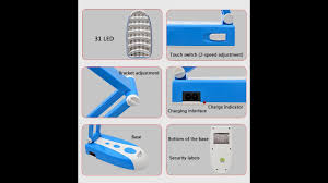 unbox review 31 led desk lamp foldable rechargeable battery rank no 4 in table lamps in
