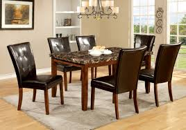 7 piece black dining room set. Best Solutions Of Furniture America Mawson Faux Marble 7 Piece Dining Table Set Also Black Room
