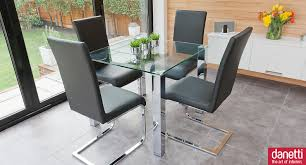 Small Kitchen Table 2 Chairs Modern Glass Dining Set Suitable For 2 Or 4 People Chunky Chrome