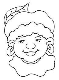 Kleurplaten Zwarte Piet Hoofd Nvnpr