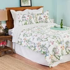 c f home white garden folly twin quilt set