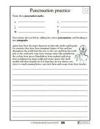 Paragraph Practice Punctuation Practice Worksheet Cursive Writing