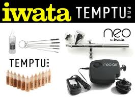 temptu s b airbrush makeup intro1 kit pressor system airbrush makeup kit with iwata neo cn airbrush