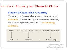 5 property and financial claims