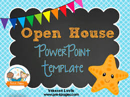 Open House Powerpoint Starfish Open House Powerpoint Pre K Pages