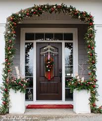 christmas front door decorationsVintage Sled Front Door Decor  The Lilypad Cottage