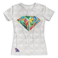 Футболка с полной запечаткой (женская) Diamond <b>Design</b> ...
