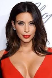 kim kardashian celebrities wearing red lipstick