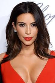kim kardashian celebrities wearing red lipstick