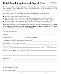 Medical Office Patient Incident Report Form Free Template